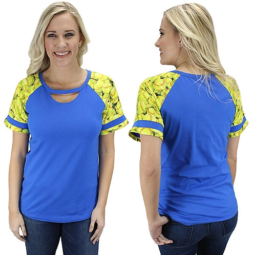 HALF SLEEVE SOFTBALL TOP with Keyhole Many Colors