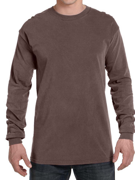 Comfort Colors Unisex Adult Long Sleeve Tee Chocolate