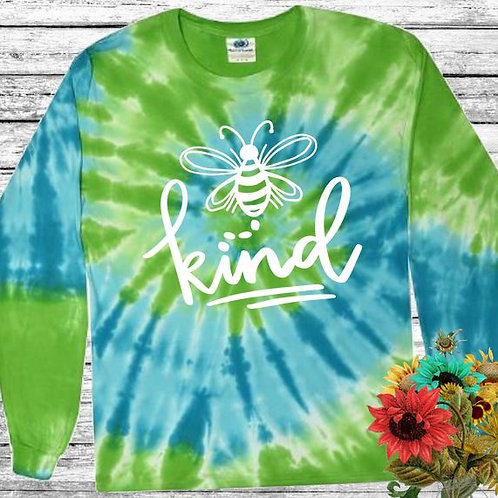 Graphic Tie Dye TEE Long Sleeve Be Kind St. Lucia