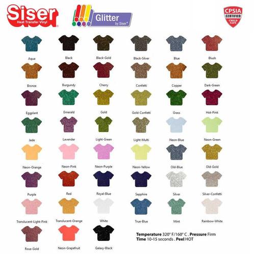 Siser Glitter Heat Transfer Vinyl 12