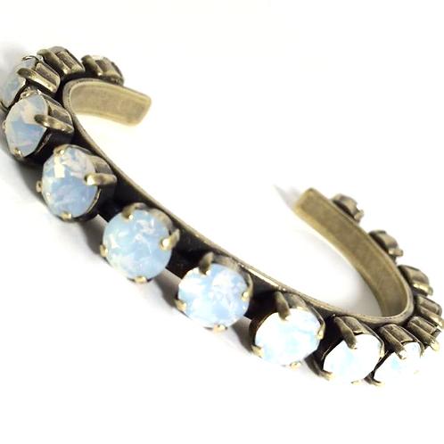 Swarovski Crystal Bangle 8mm Stones Choose Your Setting White Opal