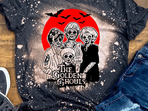 BLEACHED TEE Short or Long Sleeve Golden Ghouls