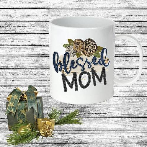 SUBLIMATED Coffee Mug - Blessed Denim ANY NAME