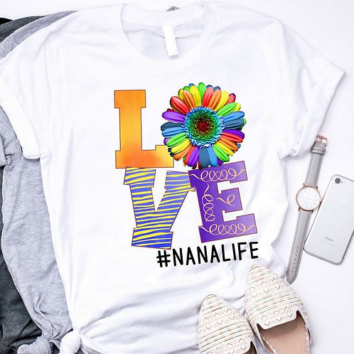 SUBLIMATED TRANSFER ONLY Mom Life LOVE Rainbow