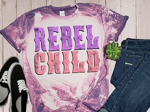 BLEACHED TEE Short Sleeve or Tank Rebel Child