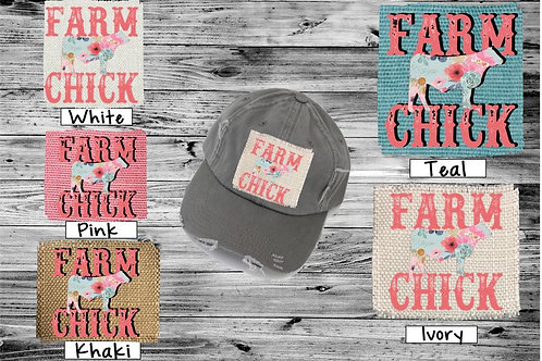 Sublimated Trucker Hats Many Colors Farm Chick
