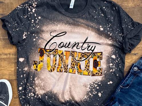 BLEACHED TEE Short Sleeve or Tank Country Junkie
