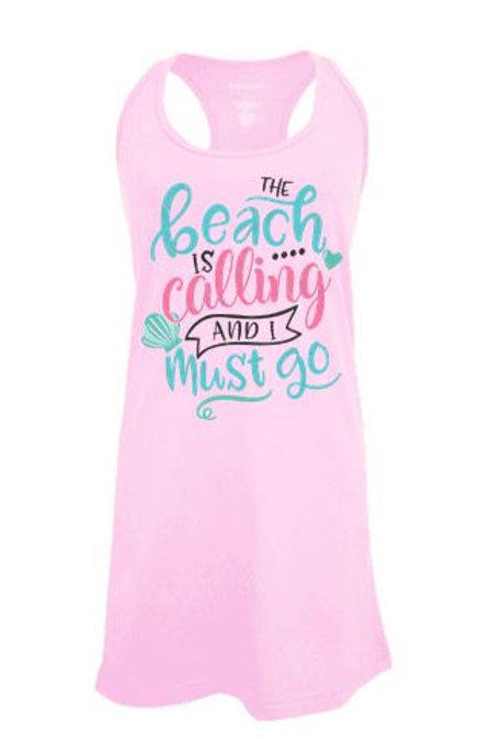 BATHING SUIT COVER UP GRAPHIC The Beach is Calling DESIGN 1