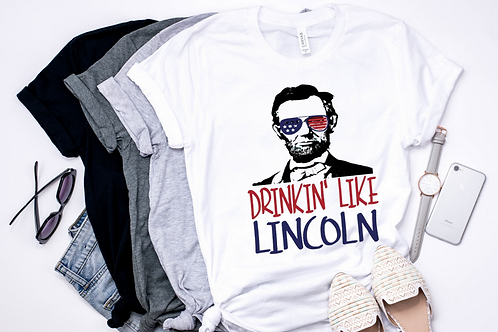 SUBLIMATED TEE Drinkin Like Lincoln