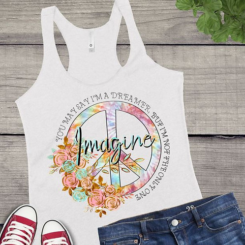 Tank Top SUBLIMATED GRAPHIC SHIRT Hippie Imagine