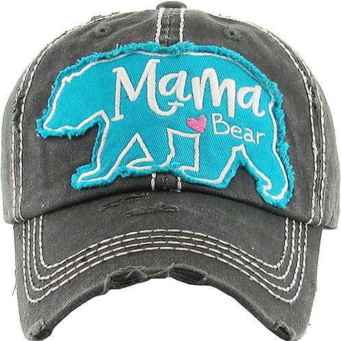 Caps Women's Hat Mama Bear with Bear Silhouette Many Colors