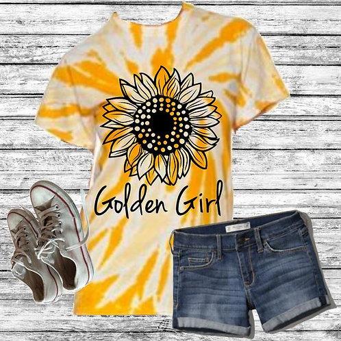 Graphic Tie Dye TEE Short Sunflower Golden Girl