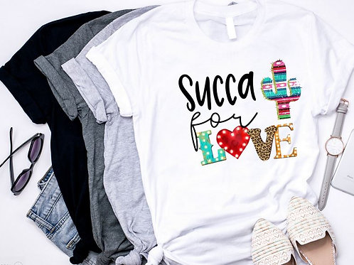 SUBLIMATED TRANSFER ONLY Succa for Love