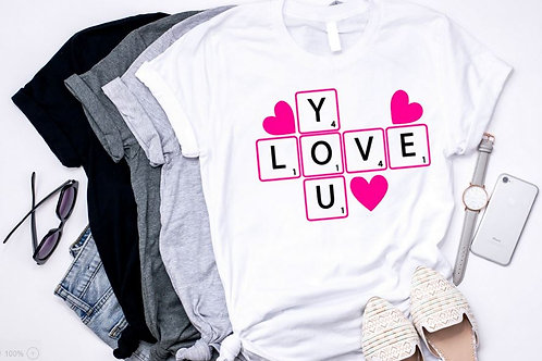 SUBLIMATED TRANSFER ONLY Love You Crossword