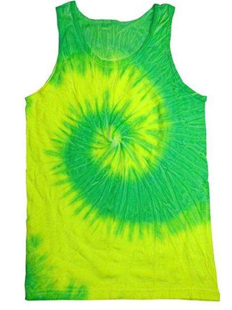 Tank Top Tie Dye SHIRT Lime Green