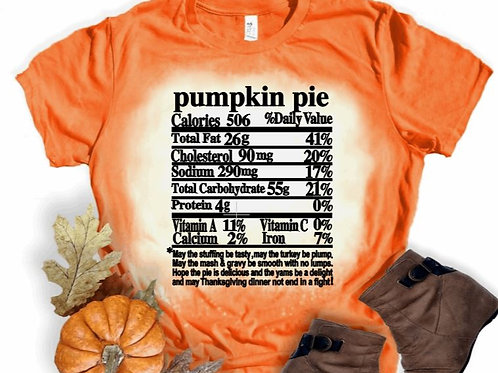 BLEACHED TEE Short or Long Sleeve Thanksgiving Nutritional Shirts
