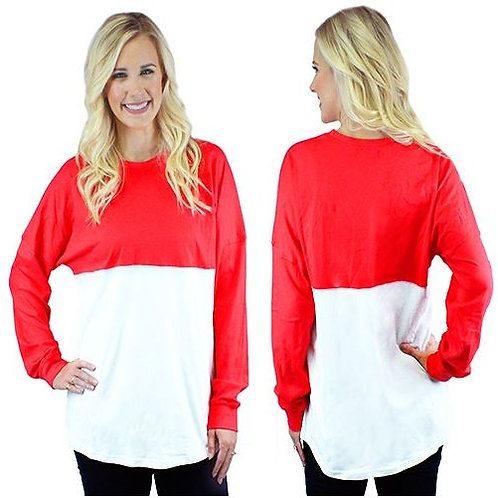 Multi Color Spirit Jersey Sizes S, M, L, XL, 2XL, 3XL Red