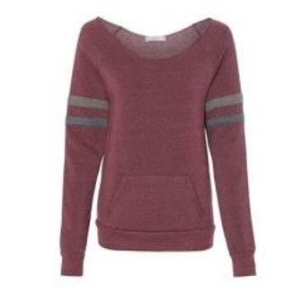 Eco-Fleece Manic Sweatshirt Garnet