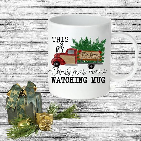 SUBLIMATED Coffee Mug - Christmas Movie Watching Mug Farm Truck