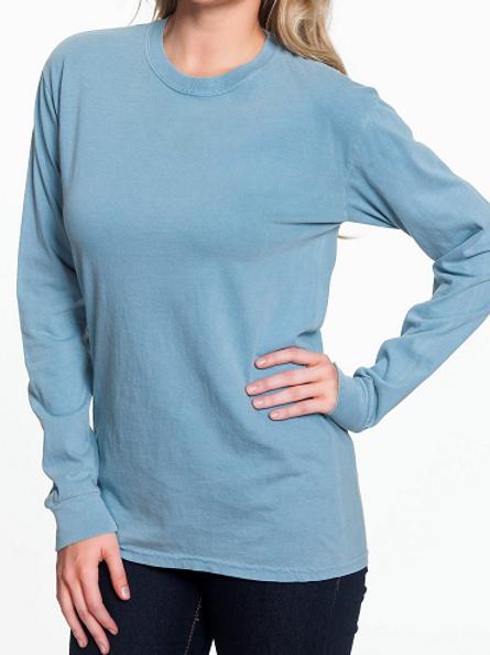 Comfort Colors Unisex Adult Long Sleeve Tee Ice Blue