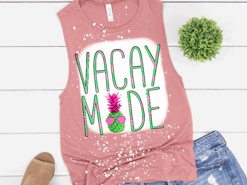 BLEACHED TANK TOP or TEE Vacay Mode