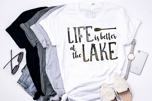 SUBLIMATED TRANSFER ONLY  Life is Better on a Lake