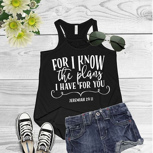 Tank Top GRAPHIC SHIRT For I Know the Plans