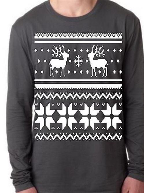 CHRISTMAS LONG SLEEVE SHIRT Reindeer Design