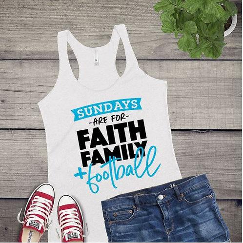 Tank Top GRAPHIC SHIRT Sundays are for Faith Family Football