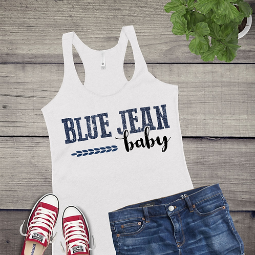 Tank Top GRAPHIC SUBLIMATED SHIRT Blue Jean Baby