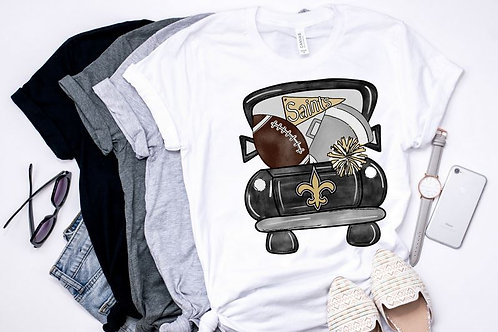 SUBLIMATED TRANSFER ONLY Football Vintage Truck PRO
