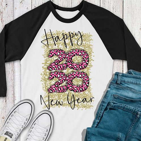 SUBLIMATED TEE RAGLAN LOVE New Year 2020 Pink Leopard