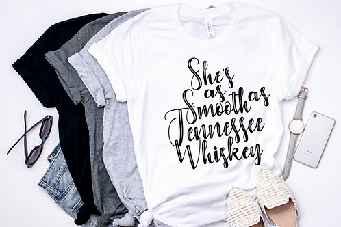 SUBLIMATED TEE Smooth as Tennessee Whiskey