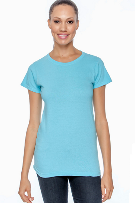 Comfort Colors Ladies Tee Lagoon Blue