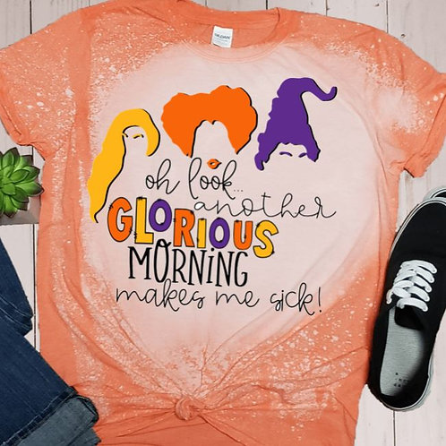 BLEACHED TEE Short or Long Sleeve Glorious Morning