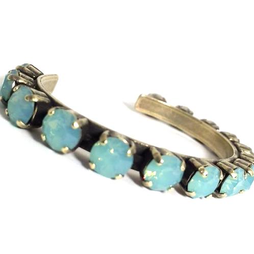 Swarovski Crystal Bangle 8mm Stones Choose Your Setting Pacific Opal