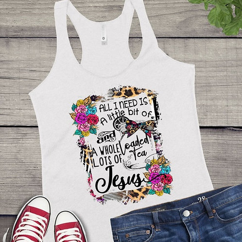 Tank Top SUBLIMATED GRAPHIC SHIRT Loaded Tea and Jesus