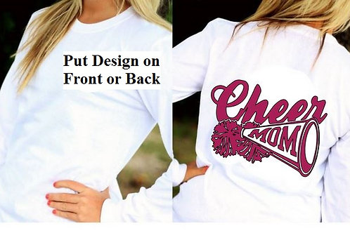 LONG SLEEVE CHEERLEADING DESIGN SHIRT Cheer Mom