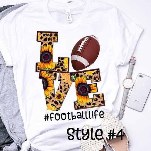 SUBLIMATED TRANSFER ONLY LOVE Football Style #4