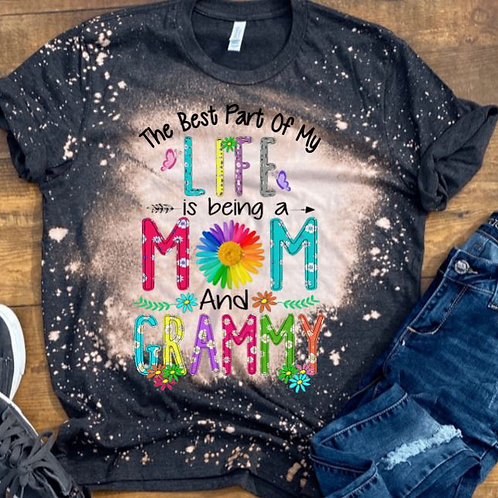 BLEACHED TEE Short or Long Sleeve Best Part of My Life Mom ANY NAME