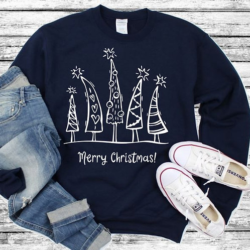 Long Sleeve Bella Merry Christmas Trees