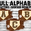 Thumbnail: SUBLIMATED PNG ONLY Baseball Leopard Home Plate FULL ALPHABET