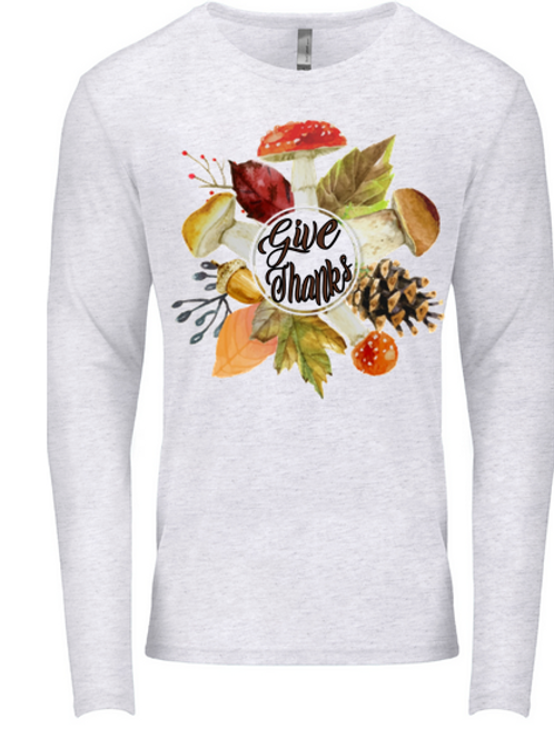 SUBLIMATED TEE Long Sleeve Give Thanks
