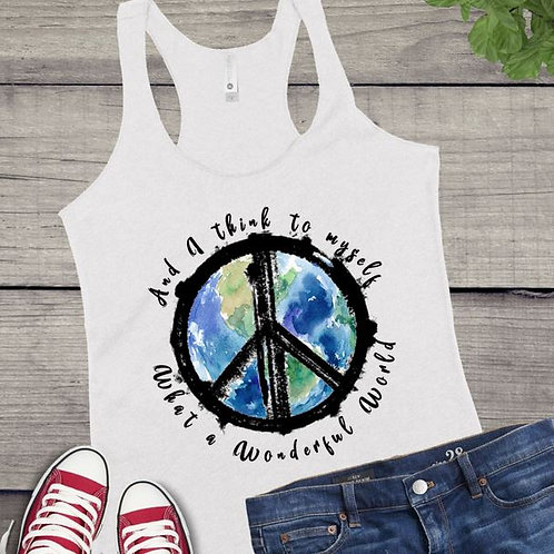 Tank Top SUBLIMATED GRAPHIC SHIRT Hippie Wonderful World