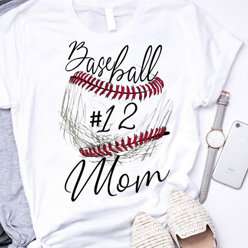 SUBLIMATED TEE Short or Long Sleeve Baseball Sketch Ball ANY NAME NUMBER