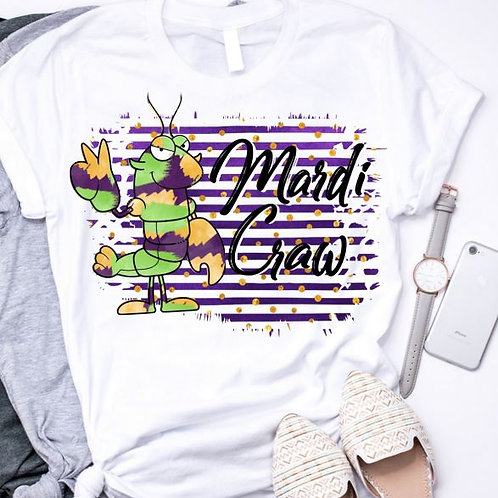 SUBLIMATED TRANSFER ONLY Mardi Gras Mardi Craw