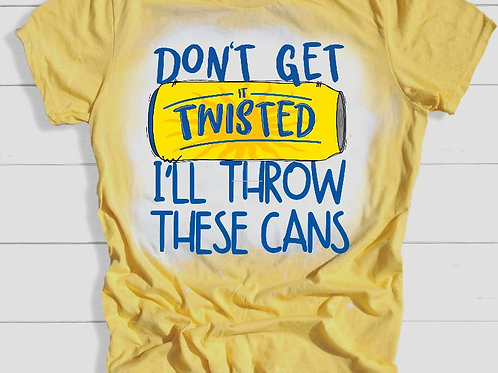 BLEACHED TEE Short or Long Sleeve Mardi Gras Don't Get Twisted 2