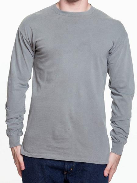 Comfort Colors Unisex Adult Long Sleeve Tee Grey