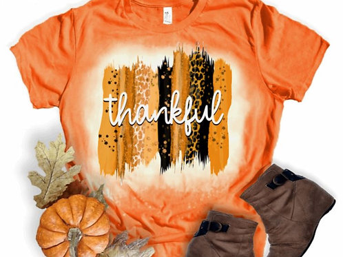 BLEACHED TEE Short or Long Sleeve Thankful Backsplash Orange
