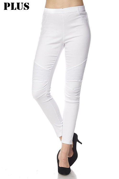 Moto Jeggings Pants with Zipper Detail 1XL and 2XL/3XL